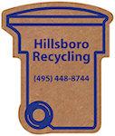 Corrugated Trash Recycling Bin Magnets